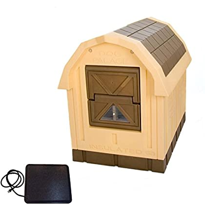 Image of ASL Solutions Deluxe Insulated Dog Palace with Floor Heater - Large Home and Kitchen