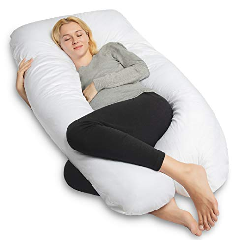 Pregnancy Pillow-U Shaped Full Body Pillow for Back Pain and Total Support- with...