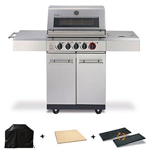 Enders Gasgrill Kansas 3 SIK Turbo inkl. Grillplatte und Pizzastein