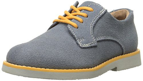 Florsheim Kids Kennett JR Saddle Shoe (Toddler/Little Kid/Big Kid), Chalk Blue Multi/Gray, 10 M US Toddler