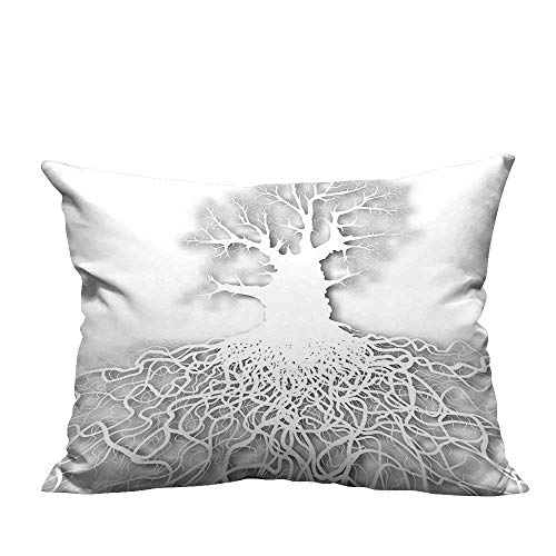 YouXianHome Pillow Case Cushion Cover Life Cut Out Art Leafless Oak Tree Mature Root System Underneath Printing Dyeing (Double-Sided Printing) 13x17.5 inch