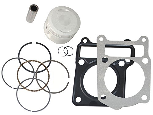 PISTON RINGS HEAD GASKET SET KIT FITS YAMAHA TTR 125 TTR125 TTR-125 2000 2001 2002 2003 2004 2005 2006 2007