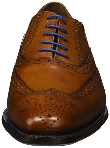 Floris van Bommel 19470/00, Zapatos de Cordones Derby para Hombre Marrón (Dark Black)