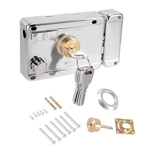 LDEXIN Home Safety Vertical Keyway Cylinder Deadbolt Rim Lock Set Exterior Door Anti-Theft Door Locks ()