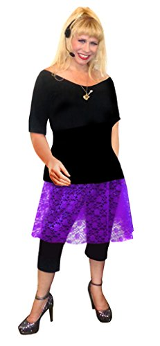 Punk Rocker Chick Costume (Rocker Chick Purple Lace Plus Size Supersize Halloween Costume Basic Kit XL)
