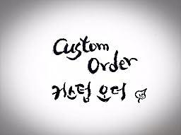 Custom Order / Korean-English Calligraphy on paper