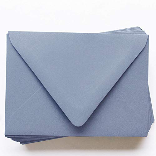 A1 Gmund Colors Matt Storm Cloud Envelopes - Euro Flap, 68T, 25 Pack ()