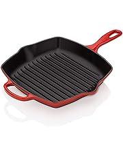Le Creuset Signature gietijzeren grillpan, vierkant, 26 cm, geschikt voor alle warmtebronnen, incl. inductie