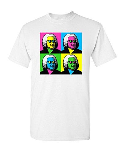 Johann Sebastian Bach Pop Art Funny Humor Baroque Pun Classical Music T-Shirt Adult Mens Graphic Tee White (Medium)]()