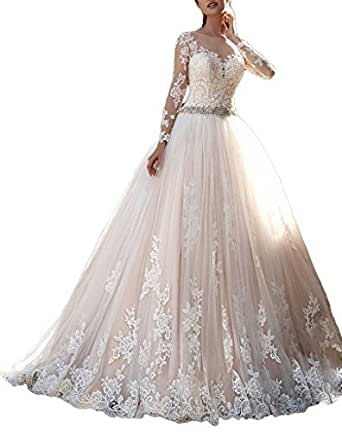 Cardol 2017 Womens Lace Wedding Dresses Bridal Gowns Long Sleeves