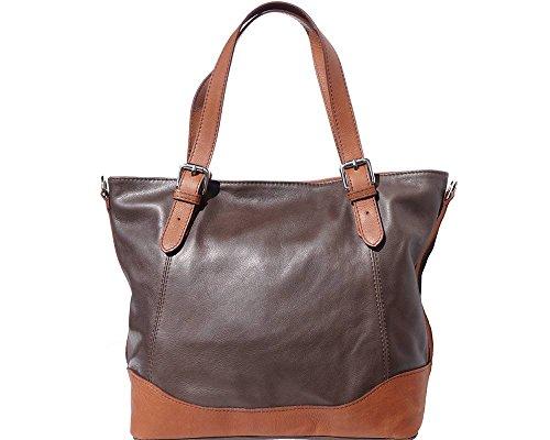 LaGaksta Bonnie Genuine Soft Leather Shoulder Tote Bag Dark Brown by LaGaksta