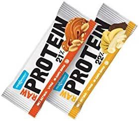 Maxsport Nutrición, barras de Proteína - Sin gluten. Proteína para veganos, alimentos crudos - 50 gx 20 unidades.