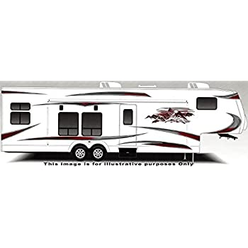 Rv trailer camper large vinyl decals graphics k 0008bur