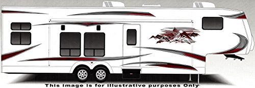 Graphics Decal Kit (RV, Trailer, Camper, Large Vinyl Decals/Graphics -K-0008BUR)