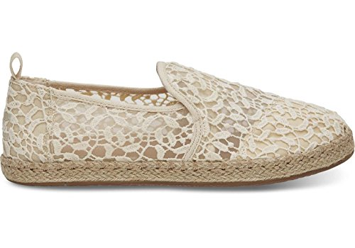 TOMS Women's Deconstructed Alpargata Rope Natural Lace Leaves 11 B ()