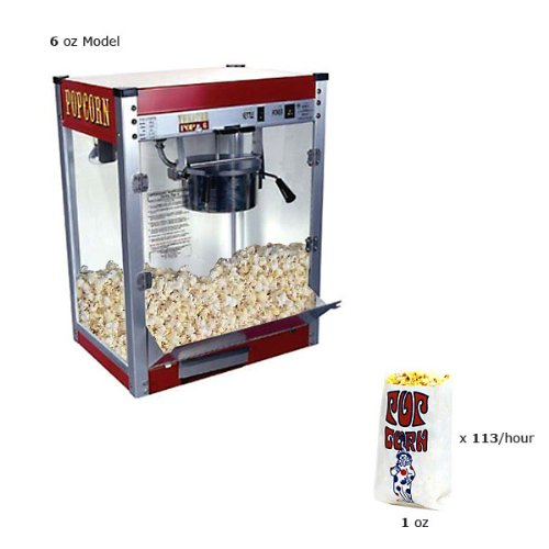 Paragon Theater Pop 6 Ounce Popcorn Machine for Professional Concessionaires Requiring Commercial Quality High Output Popcorn Equipment by Paragon - Manufactured Fun