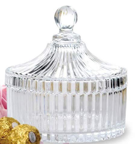 (All For You Elegant Crystal Glass Candy Jar/Glass Candy Container (Medium))