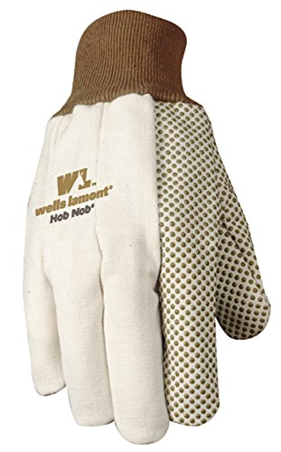 Hob Nob Dots (Wells Lamont Jersey Work Gloves with Hob Nob Dots, Wearpower, Basic, One Size (310))