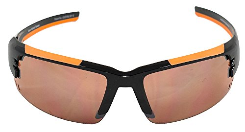 Maxx Sunglasses Wizard Black w/Orange Rubber Frame HD Amber - W Wizards
