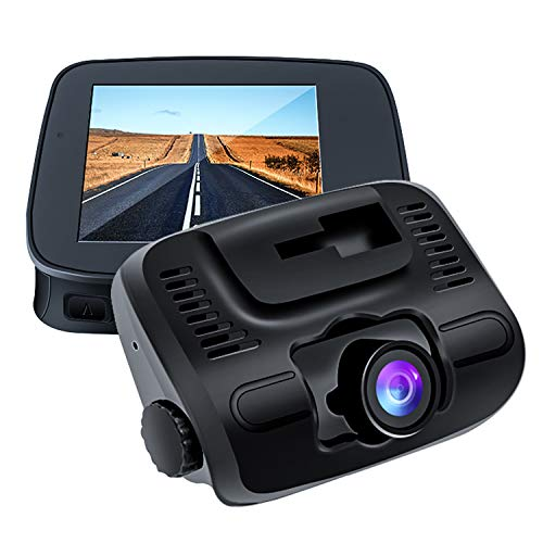 E-ACE Dash Cam 2 IPS Screen 1080P FHD Car Video Recorder 140 Degree Wide Angle Lens Discreet Design Dashboard Camera with G-Sensor, Loop Recording, Parking Monitor,Motion Detection