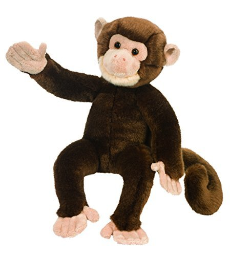 Sprite the Brown Sitting Monkey  Stuffed Animal by Douglas C