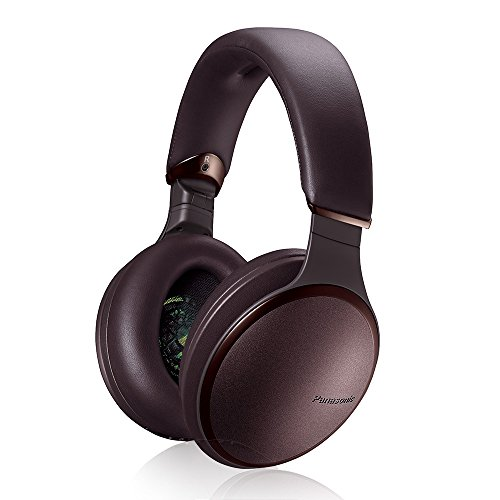 Panasonic Premium Hi-Res Wireless Headphones – Noise Cancelling Bluetooth Over The Ear Headphone, Brown (RP-HD605N-T)