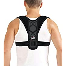 """Back Brace Posture Corrector for Women & Man: Adjustable Clavicle Brace For Shoulder Support, Improves Posture and Hunched Shoulder, High Quality Brace Perfect For Pain Relief FDA Approved 22""""-36"""""""