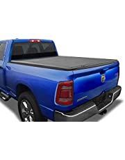 Tyger Auto 6.4 T3 Tri-Fold Truck Tonneau Cover TG-BC3D1011 Works with 2002-2018 1500 2003-2018 Dodge 2500 3500 Fleetside 6.5' Bed for Models Without Ram Box 2019 New Body Style 5.7' Bed Black