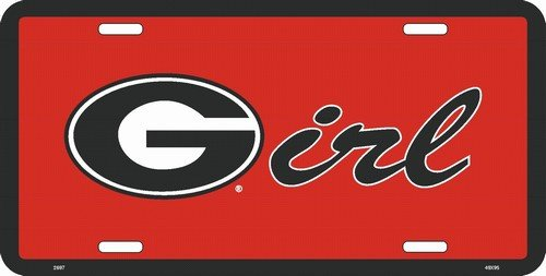 University of Georgia Bulldogs G Girl Novelty Metal License Plate Tag Sign - 2697