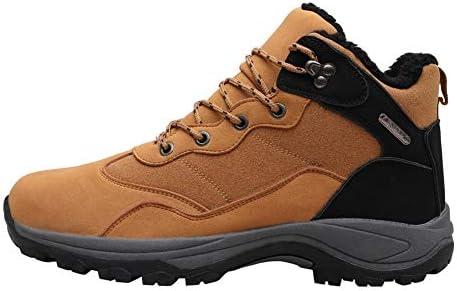 クラシック冬のメンズ雪のブーツに加え、ベルベットの暖かいレースアップ人工PUアウトドアスポーツの靴のファッション快適なウェアラブル (色 : 褐色, サイズ : 26 CM)