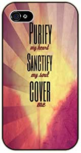 Purify my heart, sanctify my soul, cover me - Bible verse iPhone 5 / 5s black plastic case / Christian Verses