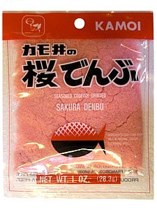 Kamoi Sakura Denbu, ground seasoned(sweet) codfish 1.0 Oz, pack of 1