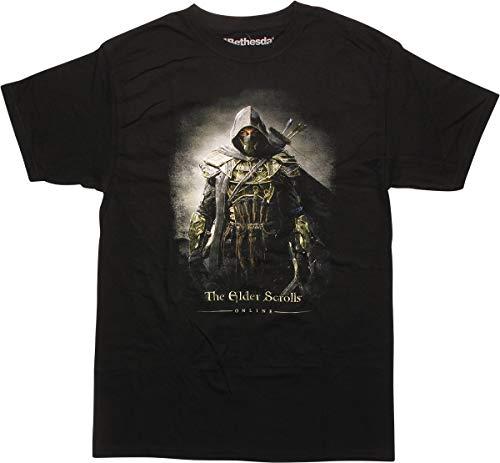 Elder Scrolls Archer Pose Mens Shirt, Large Black