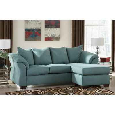 Flash Furniture, Contemporary, Upholstery Signature Design Darcy Ashley Aqua Sofa Set