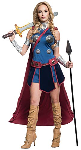 Female Thor Cosplay Costume (Secret Wishes Women's Marvel Universe Valkryie Costume, Multi,)