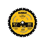 DEWALT Accessories DWA181424 Circular Saw Blade, 24T, 8-1/4-In. - Quantity 5
