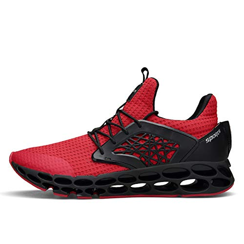 Gomnear Lacets Entraîneur À Chaussures Pied Légères De Sportif Rouge2 Respirantes Course zwxUrz0T