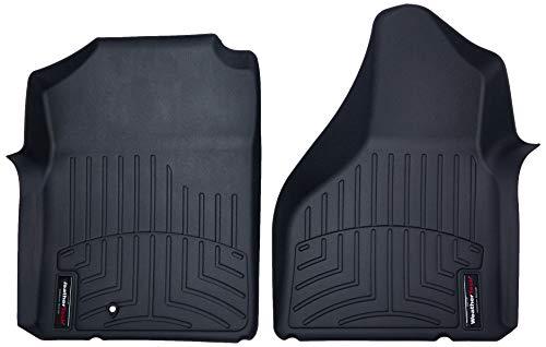 WeatherTech Custom Fit Front FloorLiner for Select Dodge Ram Models, Black - 440121 ()
