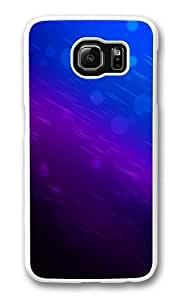 Blue background Custom Samsung Galaxy S6/Samsung S6 Case Cover Polycarbonate White