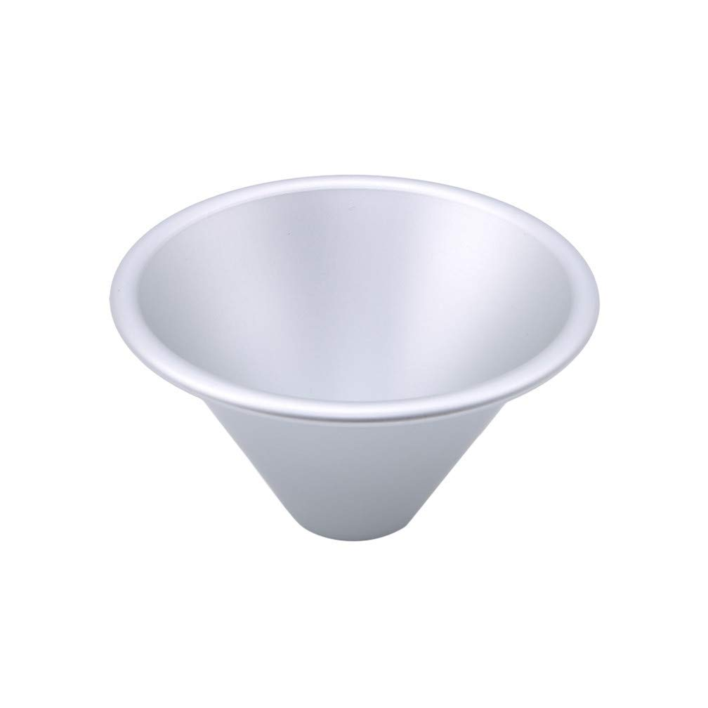 Tcplyn Durable Pudding Molds Mini Aluminum Pudding Cups Nonstick Egg Tart Mold for Dessert DIY Bakeware Cooking,L