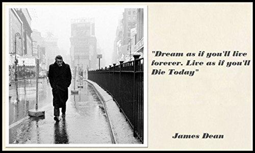 James Dean Quote Fridge Magnet 2 5X3 5 Magnetic Poster Canvas Print