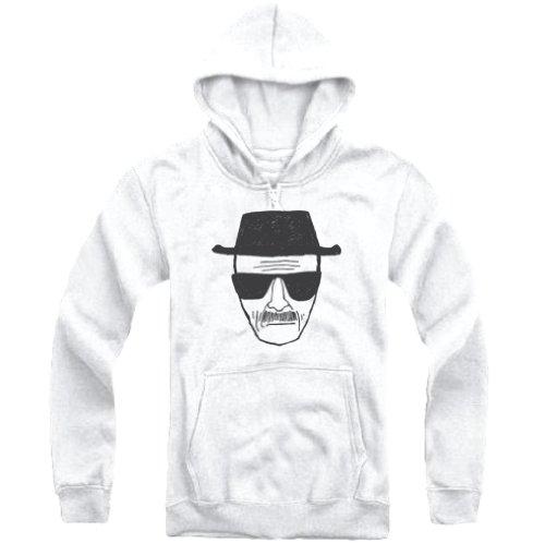 Breaking Bad Heisenberg Mens White Hoodie-Medium