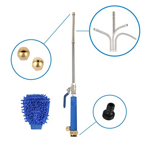 Houseables Power Washer Wand, Hose Pressure Sprayer Attachments, 9