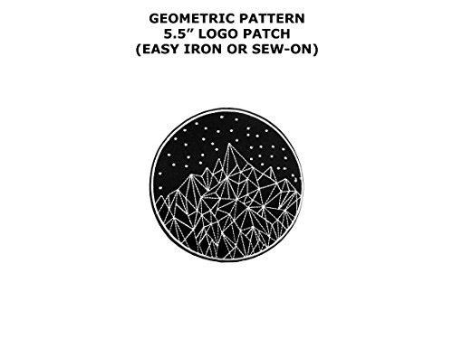 Geometric Mountains & Stars Life of Adventure National Park Souvenir Vacation Family Hiking Camping Outdoors Theme Cosplay DIY Decorative Embroidered Sew or Iron-on Patch By US Family Brand