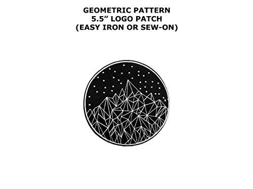 Geometric Mountains Hiking Embroidered Iron/Sew-on Comics Cartoon Theme Logo -
