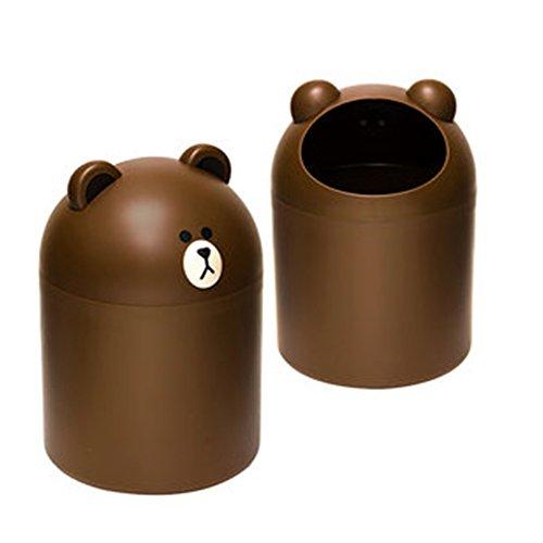 Line Character Freinds Brown Bear Mini trash basket