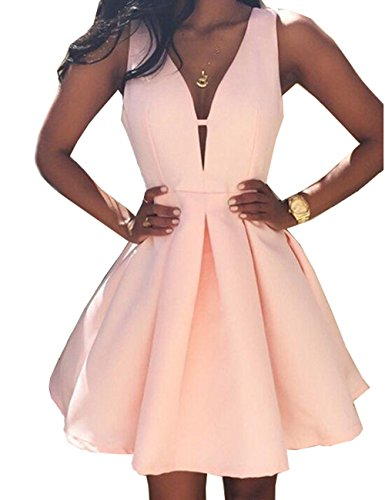 - Beautydress Womens V-neck Satin Short Prom Party Dress Homecoming Gown BP117