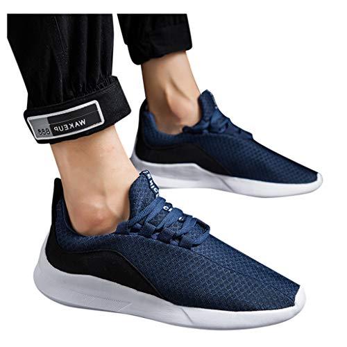 HEETEY Herren Laufschuhe Schnür Sneaker Sport Fitness Turnschuhe Atmungsaktive, leichte und rutschfeste Herren-Sportschuh-Turnschuhe zum Schnüren Laufschuhe Sneaker Atmungsaktiv Leichte
