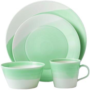 Amazon Com Royal Doulton 1815 4 Piece Dinnerware Set Green