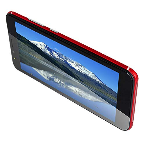Smartphone Unlocked Cell Phones,5.5'' Full View Display, Android 6.0 OctaCore 512MB+4GB Card 3G WiFi Dual Smartphone Dual Lens Camera,Best Gift for Valentine's Day Mother's Day (Red)
